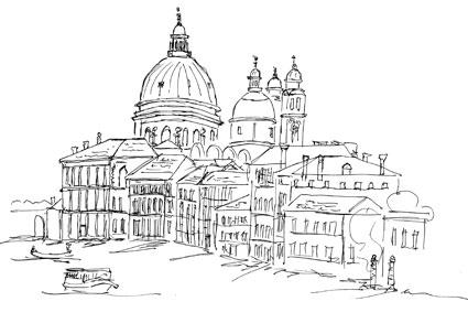 Venedig, Blick auf Santa Maria della Salute