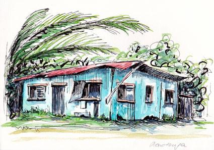 Hütte auf Rarotonga
