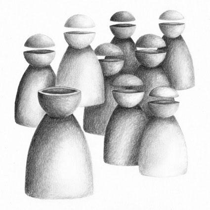 "EPSILONS XII oder ""Verrückte leiten Blinde"", 2015"